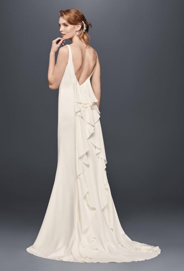David\'s Bridal High neck crepe wedding dress - New Wedding Dresses ...