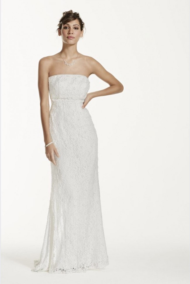 David 39 s bridal new wedding dress on sale for Davids bridal beach wedding dresses