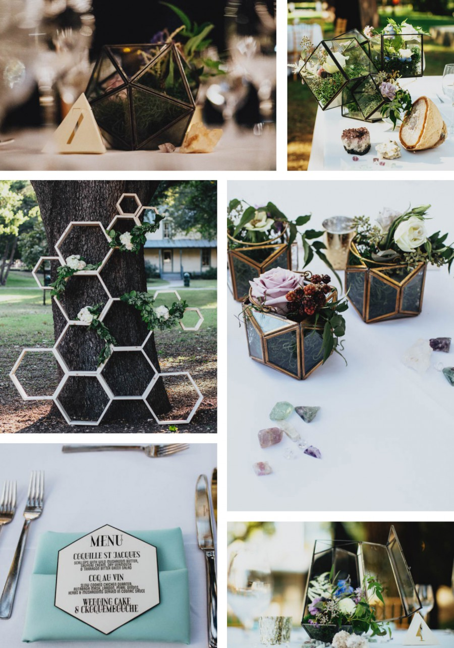 11 geometric wedding trends