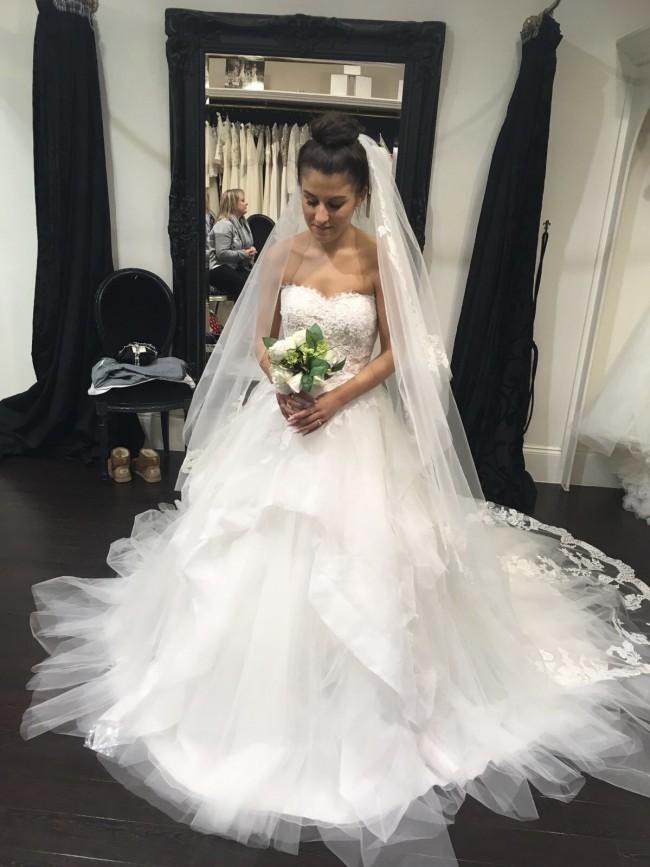 Pronovias draval new wedding dress on sale 10 off Wedding dress alterations cost 2018 uk