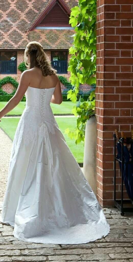 Forget me not custom made second hand wedding dress on for Second wedding dresses not white