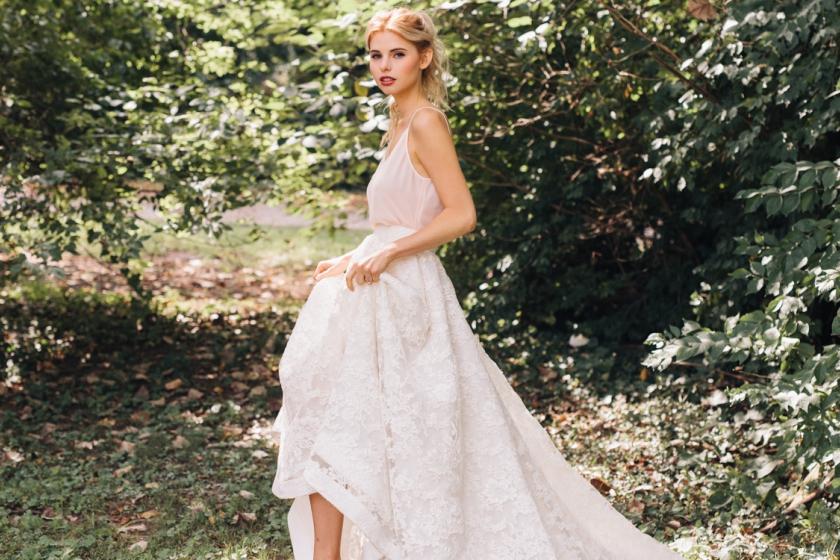 22 Super Stylish Two-Piece Wedding Dresses - The Stillwhite Blog