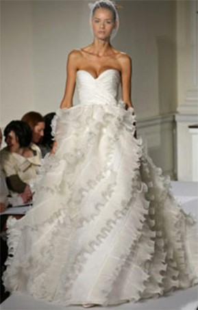 Oscar de la renta 92e25 used wedding dresses stillwhite junglespirit Choice Image