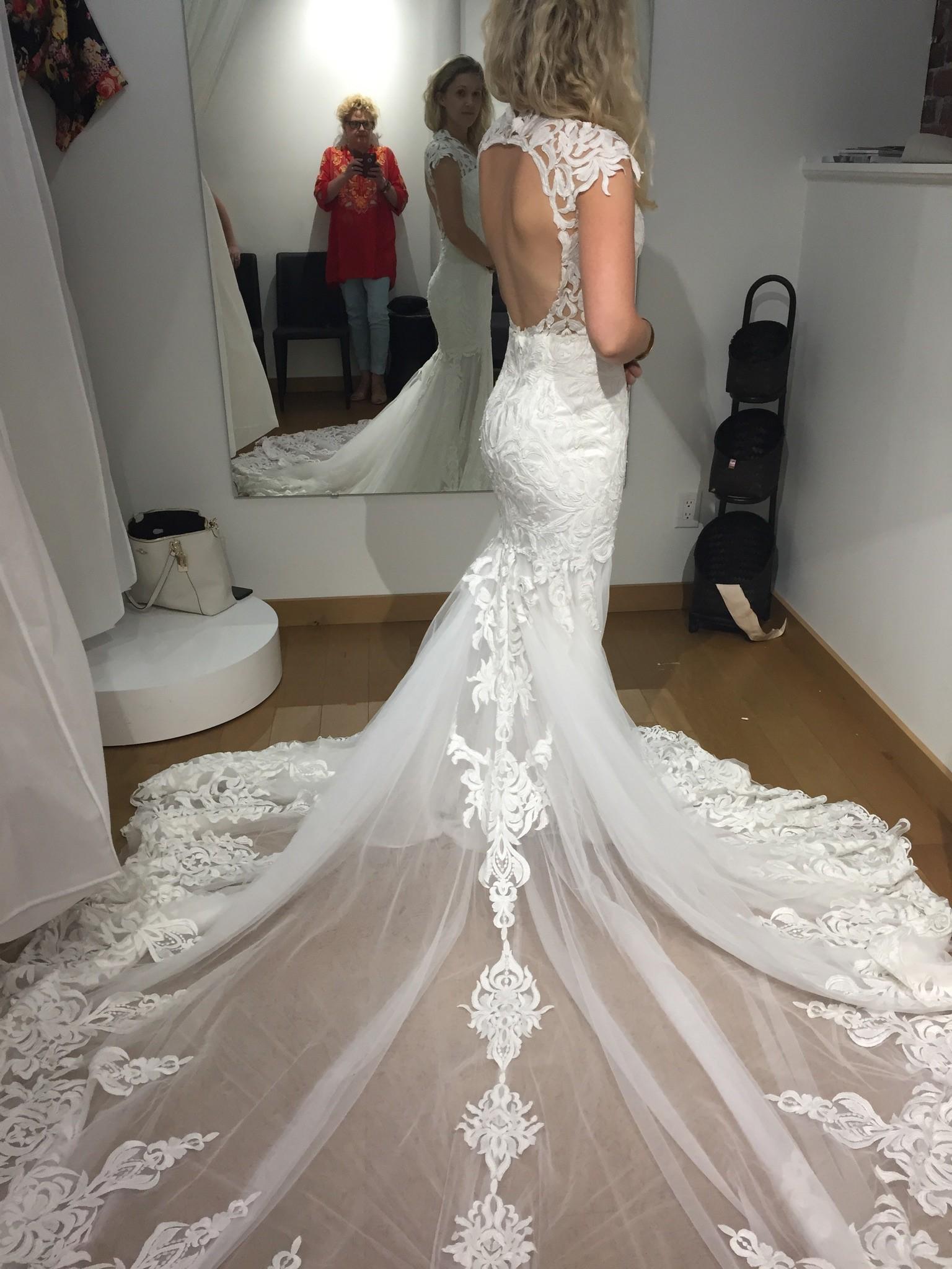 Calla Blanche 16130 Lydia Used Wedding Dress On Sale 49
