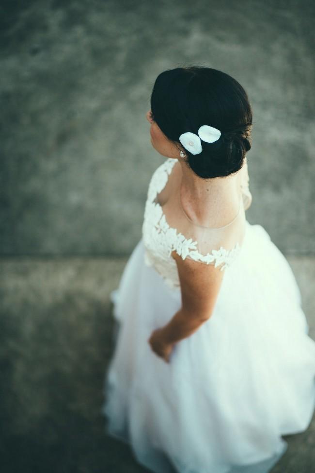 Collette Dinnigan Diamante Flowers Second Hand Wedding ...