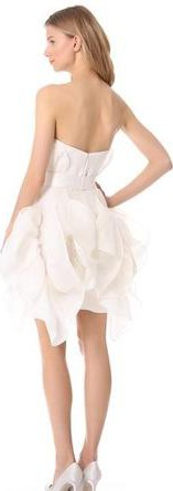 Marchesa, Sculptural strapless dress