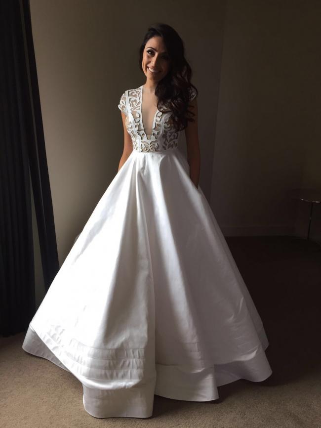 Alex perry custom made second hand wedding dress on sale for Second hand wedding dresses for sale
