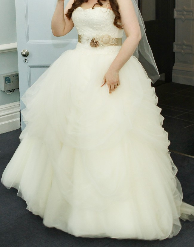Vera Wang White by Vera Wang Tossed Tulle Dress (VW351077) Used ...