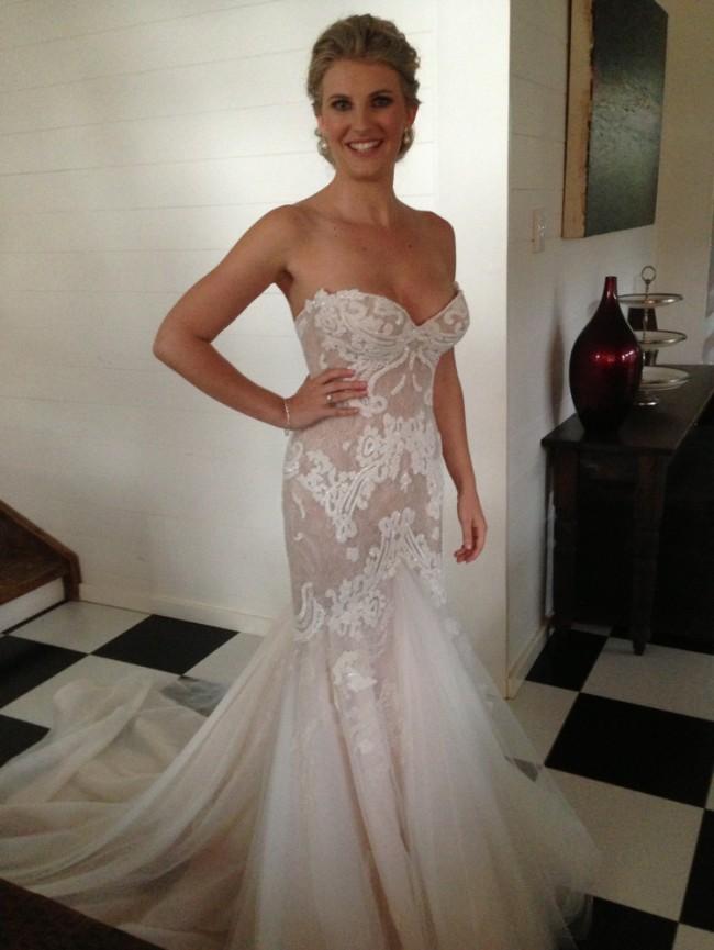 Steven khalil custom made preowned wedding dress on sale for Steven khalil wedding dresses cost