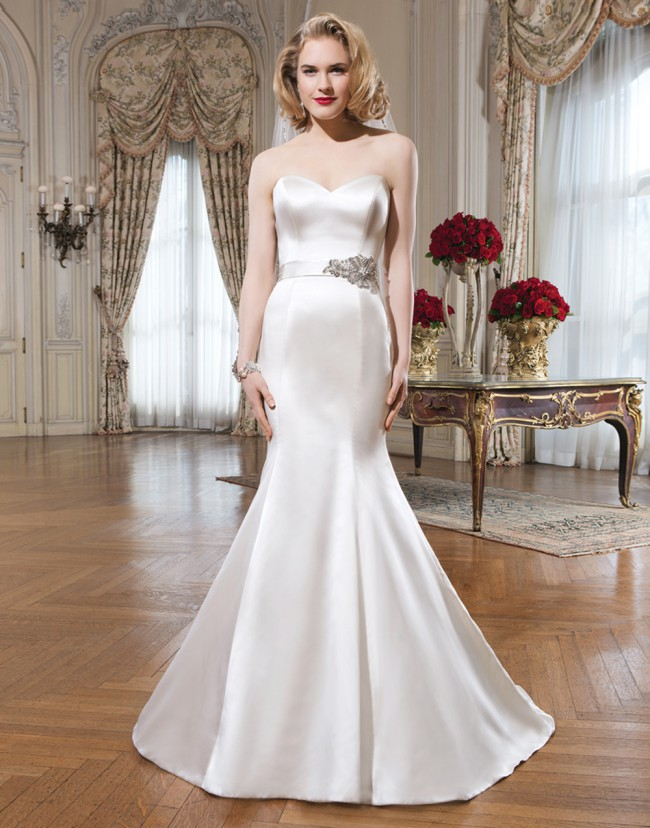 Justin Alexander Regal Satin Mermaid Bridal Gown-8659 - Used Wedding ...
