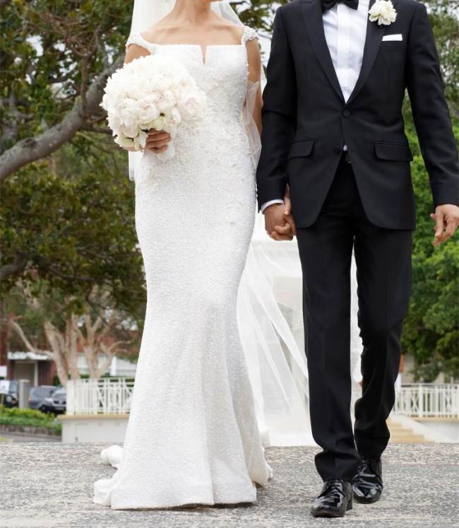Steven khalil pre owned wedding dress on sale 73 off for Steven khalil wedding dresses cost
