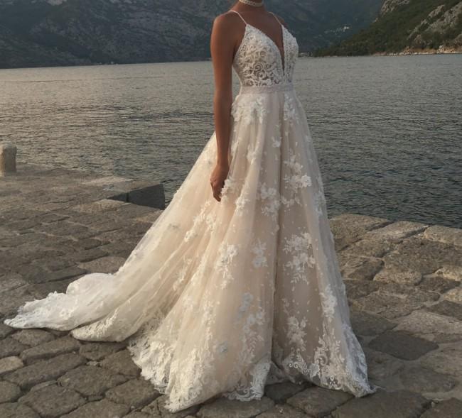 Second Hand Wedding Dresses: Calla Blanche 17128 Second Hand Wedding Dress On Sale 56