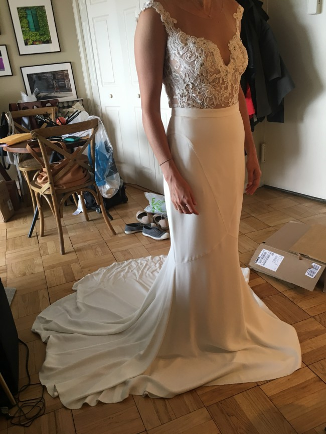 Lihi Hod Blush Skirt And Custom Top Sample Wedding Dress On Sale 70