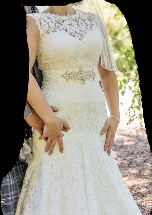 White rose wedding dress r704 for sale