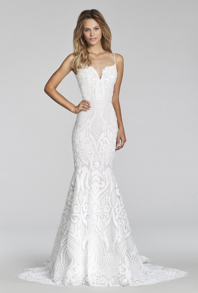 Hayley paige west gown blush style 1710 second hand for Hayley paige wedding dresses cost