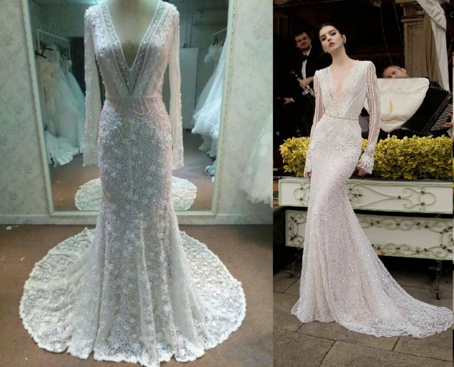 Inbal Dror, Inspired Long Sleeve Wedding Dress