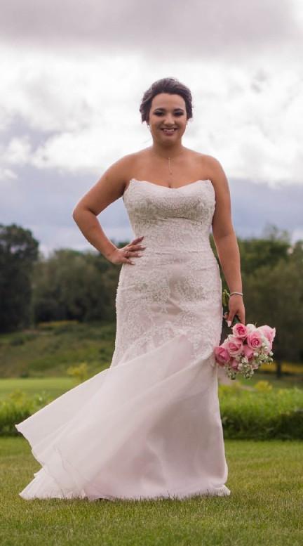 Jinza jin custom made second hand wedding dress on sale 72 for Second hand wedding dresses san diego