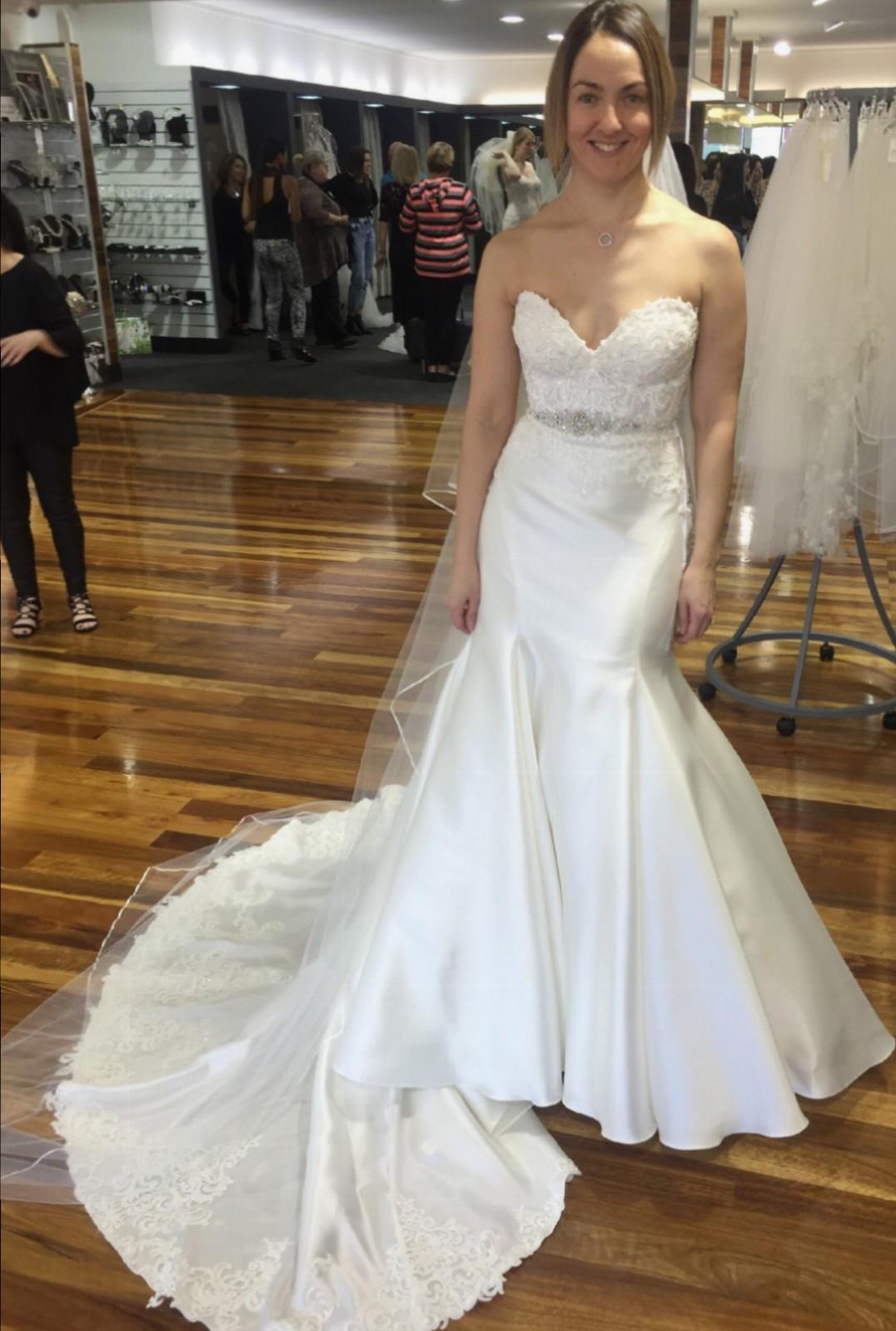 Essense of australia d2202 new wedding dresses stillwhite for Essense of australia strapless long wedding dresses