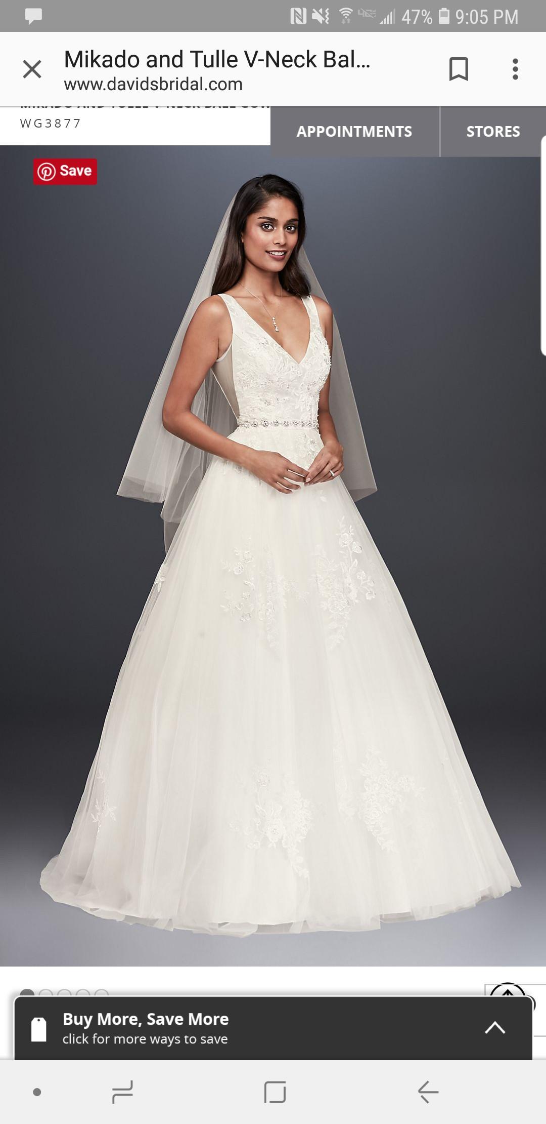 David\'s Bridal WG3877 - New Wedding Dresses - Stillwhite
