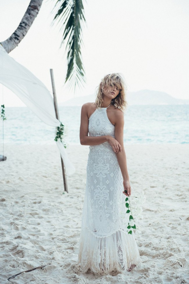 Spell & The Gypsy Collective, Casablanca Lace Halter Wedding Gown