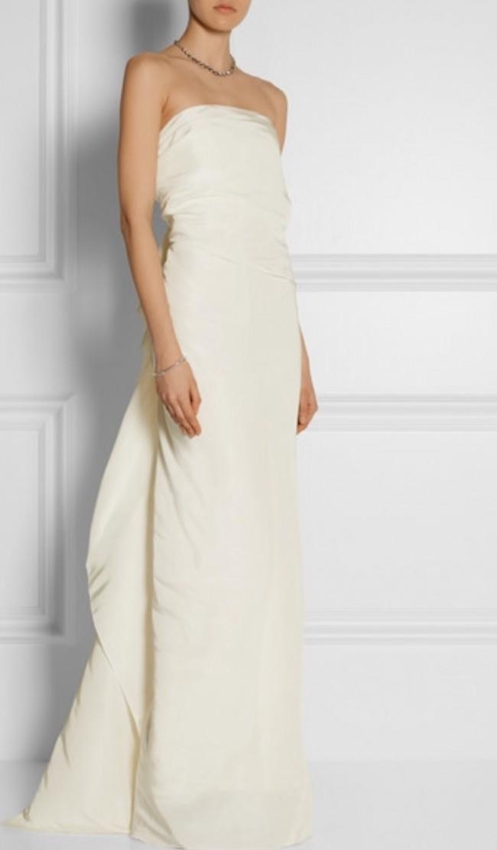 Lanvin Blanche Column Gown Second-Hand Wedding Dress on Sale 67% Off