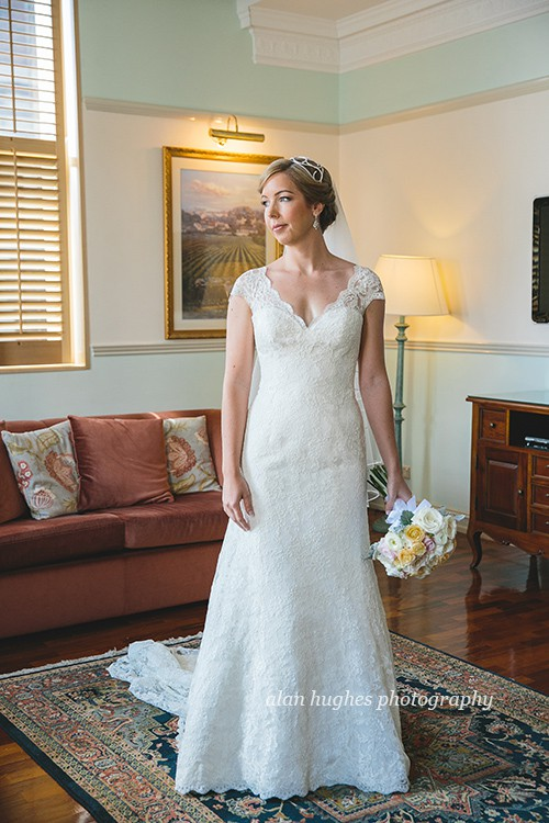 Augusta Jones Anita gown with custom sweetheart neckline, cap sl ...
