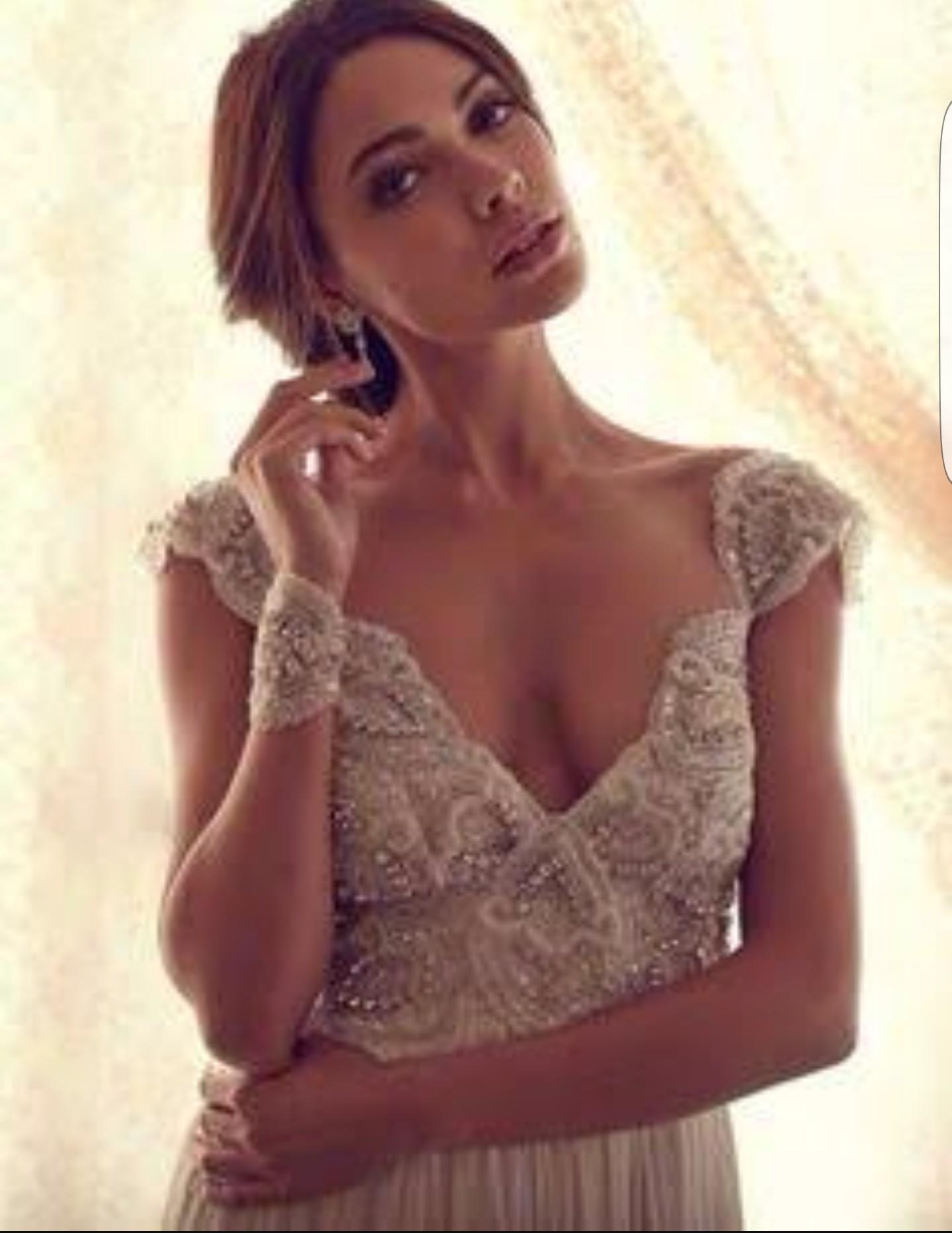 Anna campbell natalie gossamer collection preowned wedding for Anna campbell wedding dress for sale