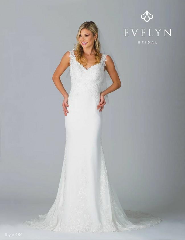 Evelyn Iris, Style 484 New Wedding Dress on Sale 56% Off