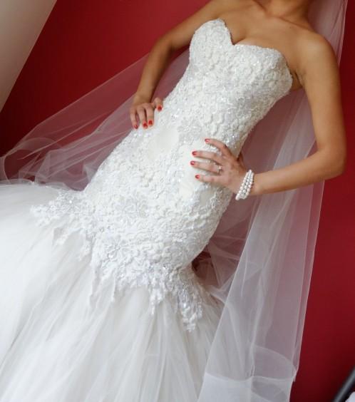 Suzanna blazevic mermaid style second hand wedding dress for Suzanna blazevic wedding dresses