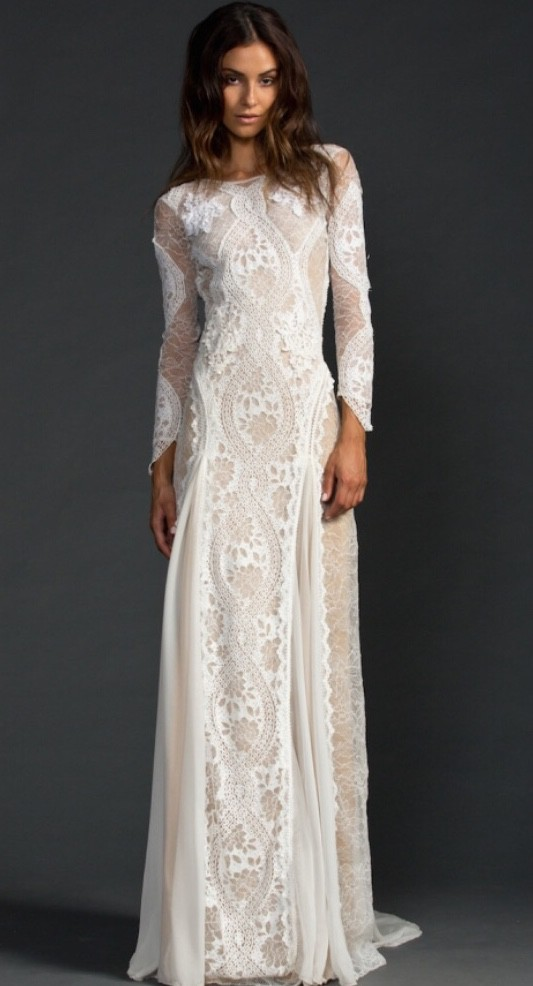 Grace Loves Lace, Inca gown with nude lining