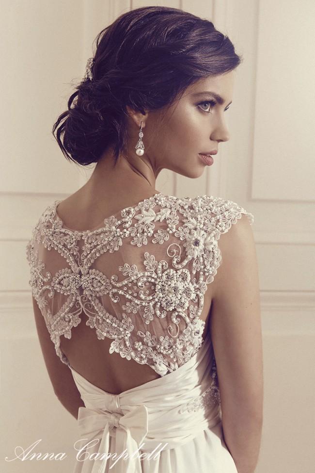 Anna Campbell Carolina Dress Sample Wedding Dress on Sale 40% Off