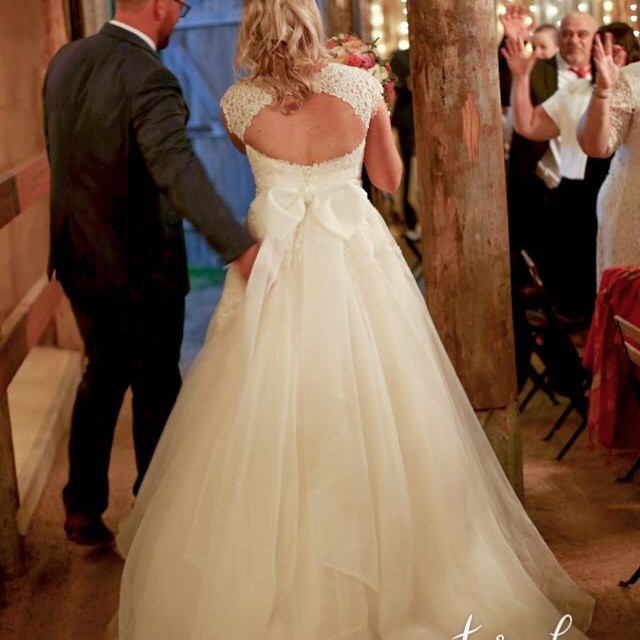 Morilee custom made second hand wedding dress on sale 56 off for Second hand mori lee wedding dresses