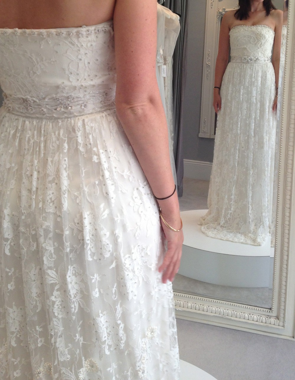 Collette dinnigan ribbon embroidery wedding dress on sale