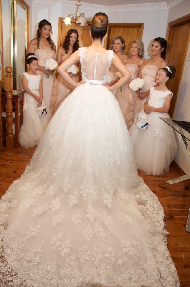 Demetrios Platinum Wedding Dress on Sale 62% Off