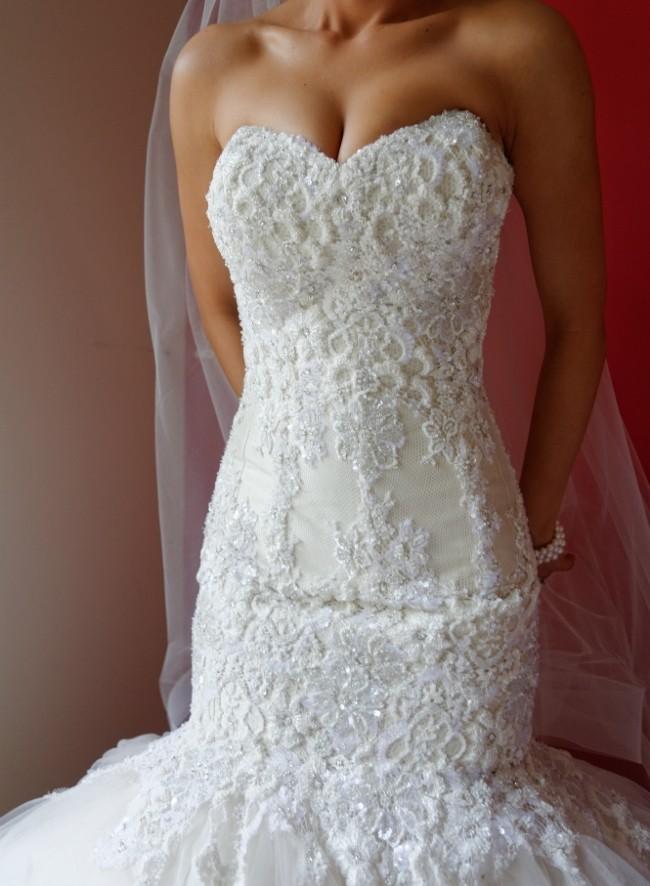 Suzanna blazevic mermaid style used wedding dresses for Suzanna blazevic wedding dresses