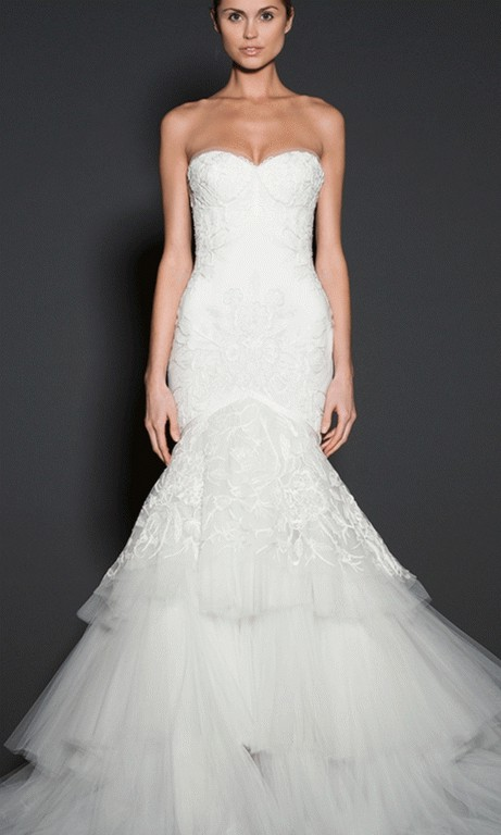 Naeem Khan Moulin Rouge And Removable Train Second Hand Wedding