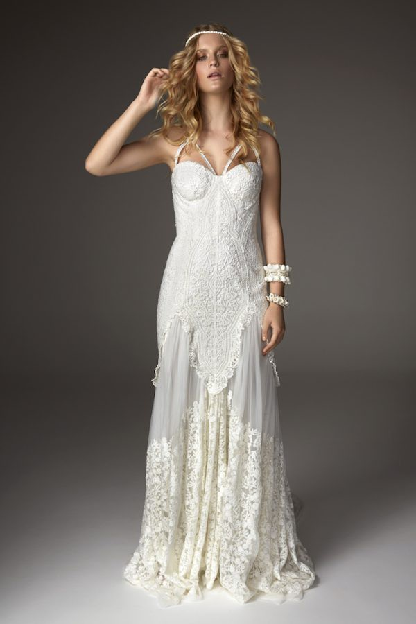 Rue De Seine Arrow Wedding Dress on Sale 49% Off