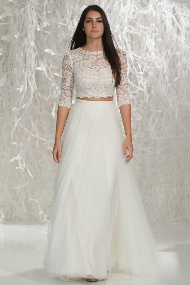 Watters, Lanikai Crop Top and Amora Tulle Skirt