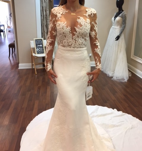 Second Hand Wedding Dresses: Pronovias Vicenta Second Hand Wedding Dress On Sale 60