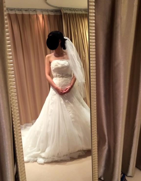 Avenue diagonal second hand wedding dresses stillwhite for Av diagonal 434