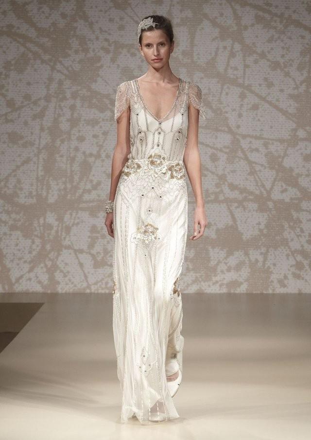 Jenny Packham Eden Platinum PreOwned Wedding Dress on Sale 48% Off