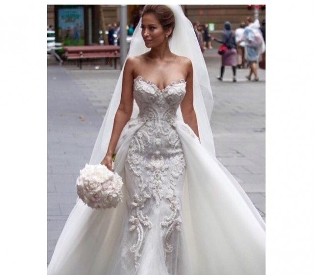 Steven khalil steven khalil couture pre owned wedding for Steven khalil mermaid wedding dress
