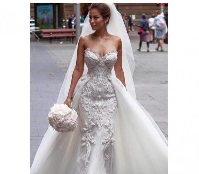 Steven Khalil Steven Khalil couture Pre-Owned Wedding Dress on Sale ...