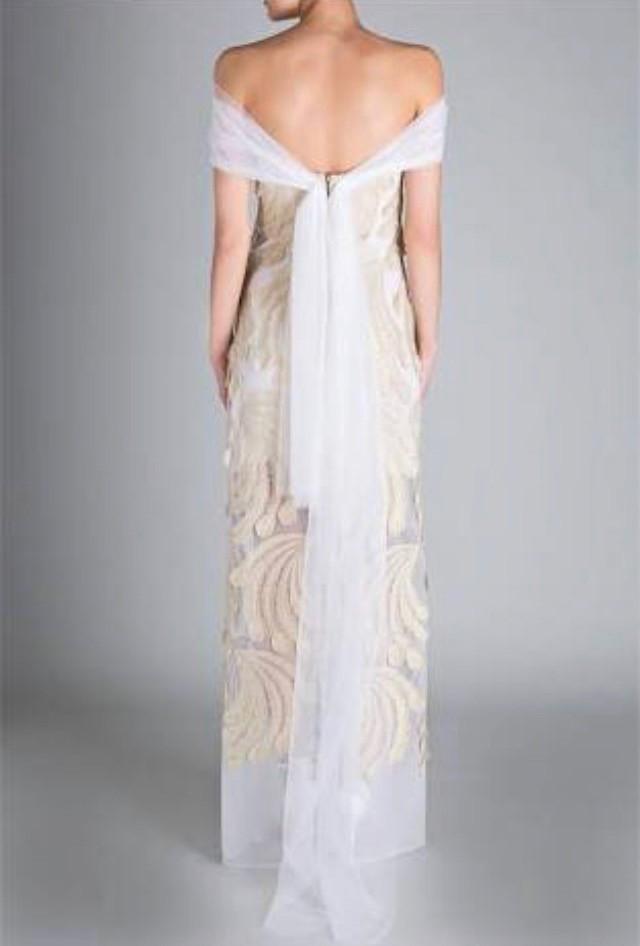 Carla Zampatti Gold Peacock Lace Desiree Gown New