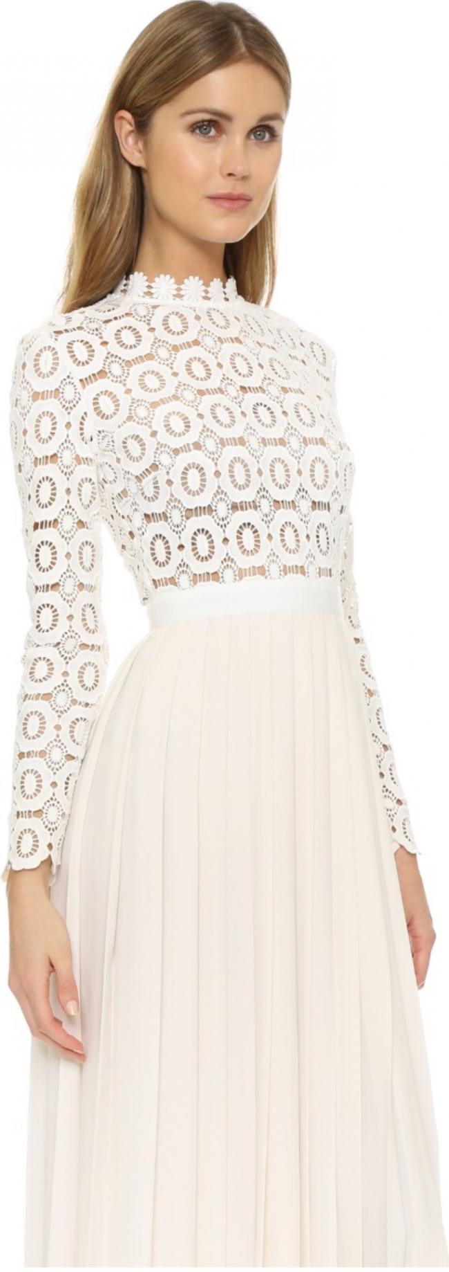 Self portrait pleated crochet maxi dress new wedding dress for Self portrait wedding dress