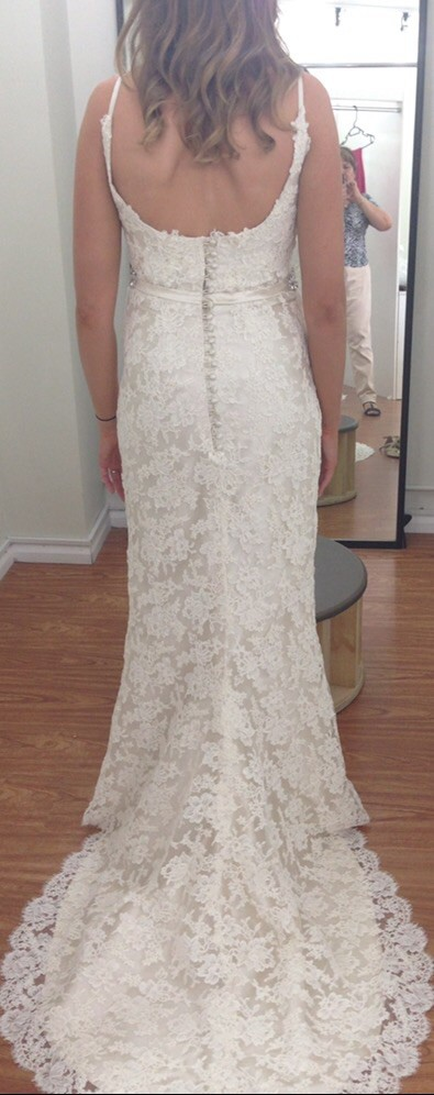 Lisa gowing cecile used wedding dresses stillwhite for Wedding dress stain removal