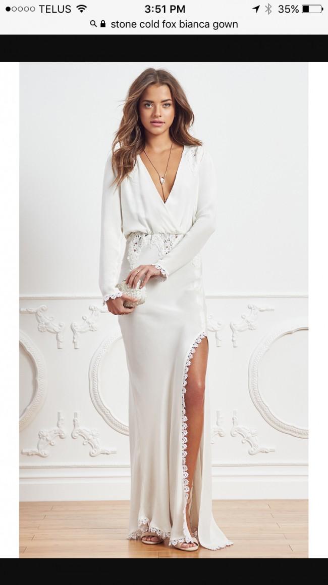 Stone Cold Fox Bianca Wedding Dress on Sale 38% Off