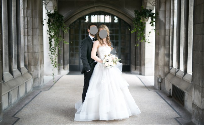 Cheap Wedding Gowns Toronto: Monique Lhuillier BL1518 Used Wedding Dress On Sale 58