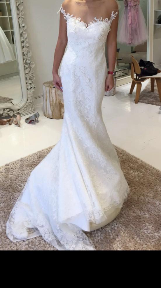 Jessicacindy slim cut mermaid dress second hand wedding for Slim white wedding dresses