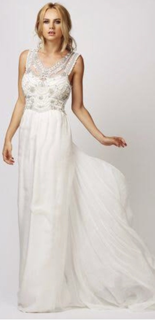 Anna Campbell Madison Slimline Chiffon New Wedding Dress On Sale 44